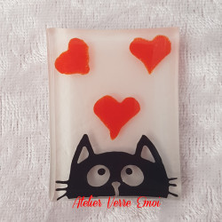 Magnet Chat Coeurs