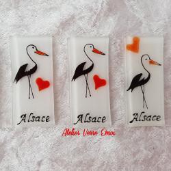 Magnet Cigogne Alsace