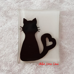 Magnet Chat Coeur